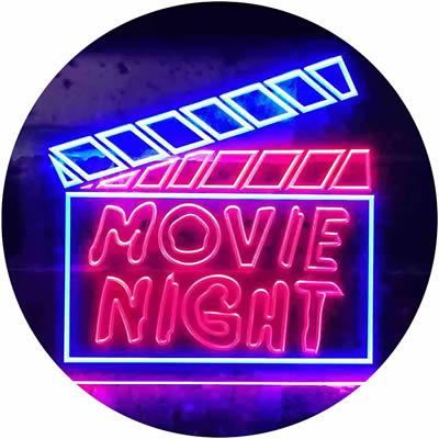 movie neon signs