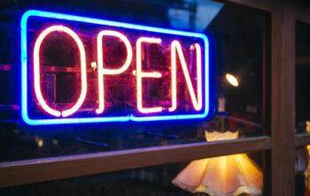 Neon shop signs